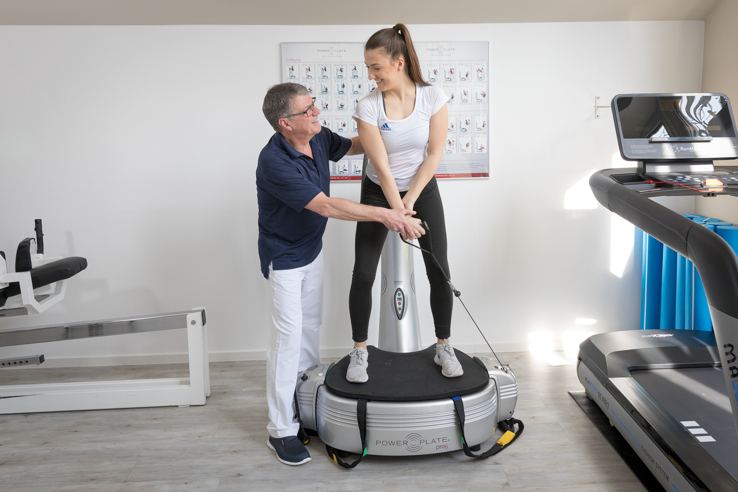 Power Plate in der Praxis Stracke